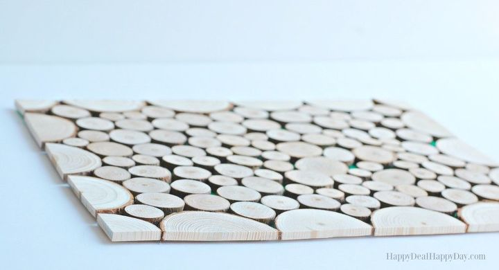 look at what she does with these plain wood slabs