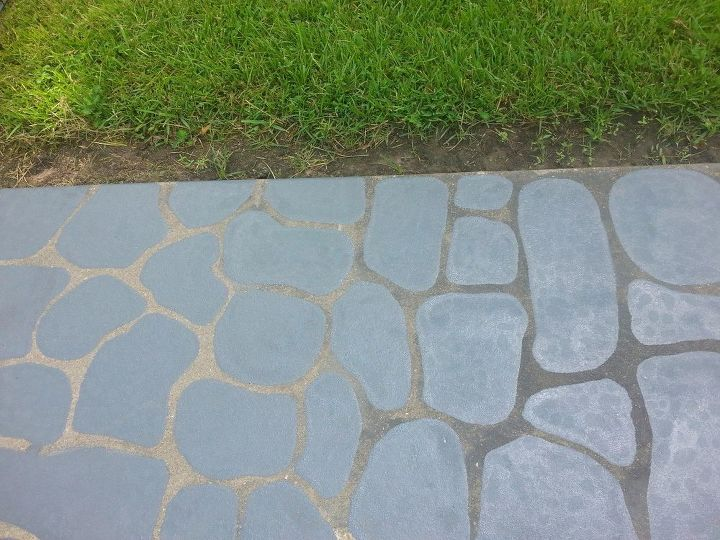 Painted Flagstones On Concrete Stepping Stones Hometalk