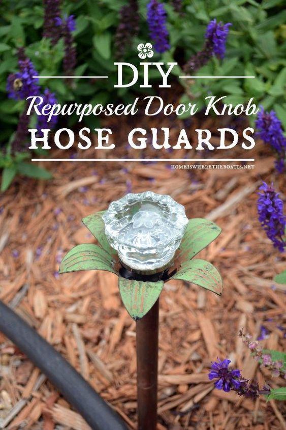blooming door knob hose guards