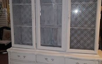 This Beautiful Hutch Chalk Painted Restored to Its Beauty