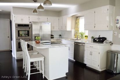 How To Paint Your Kitchen Cabinets From Dark White