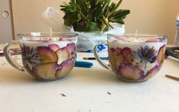 Homemade Pressed Flower Candles