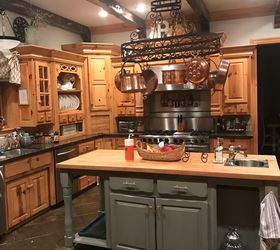 I Still Love My Kitchen But Feel Itu0027s Getting Dated. Iu0027ve Updated Colors Of  Window Covering, Painted Pieces (hutch And Island) And Assessories.