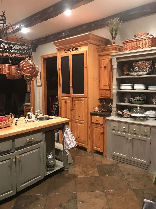 Any ideas on how to update my knotty pine cabinets or pot ...