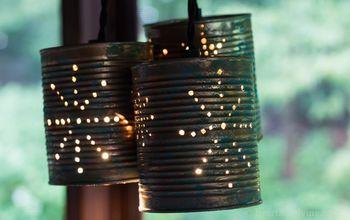diy tin can pendant lights