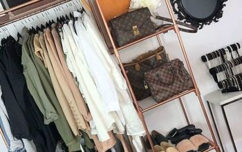 Rose Gold & Marble Clothing Rack on a Budget