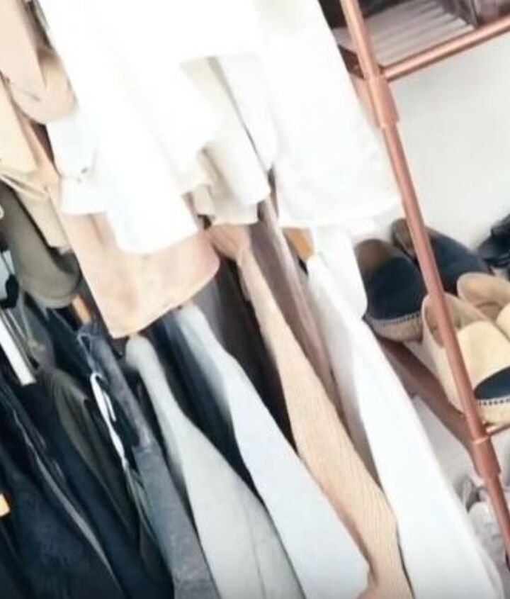rose gold marble clothing rack on a budget