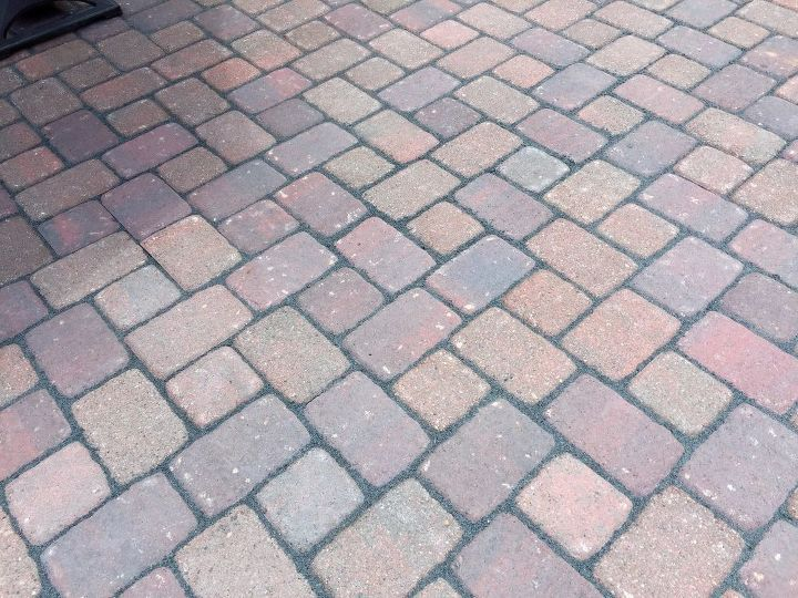 Pavers after Unilock sand was poured over it.