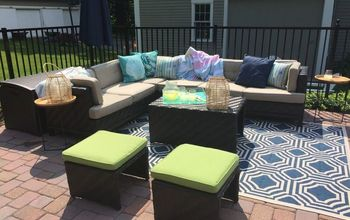 Pool Patio Makeover- How We Doubled the Space