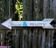 diy vintage inspired arrow sign