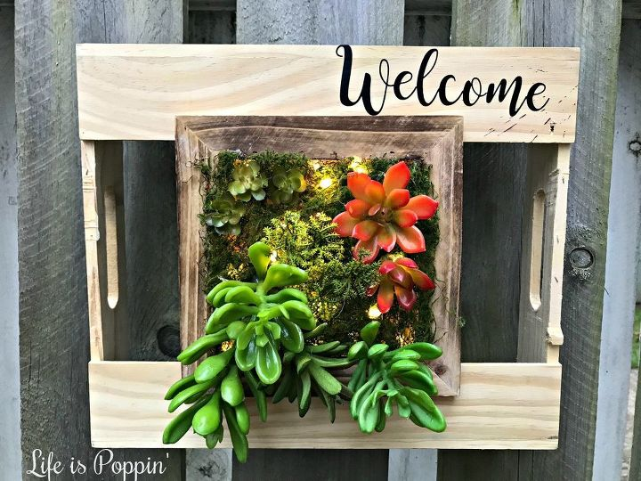 succulent address or welcome sign planter