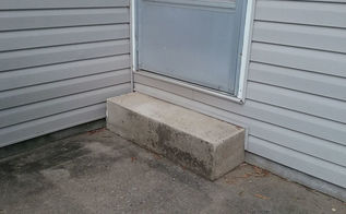 q how do i extend my small concrete step to be longer and wider