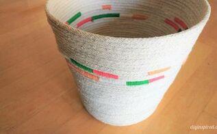 diy rope waste basket