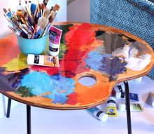 artist side table from old chair