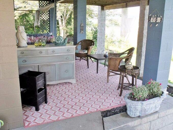 my stenciled porch