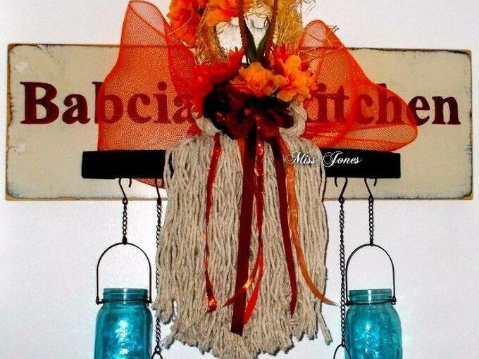 diy mop head angel doll with dollar tree