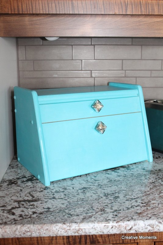 s 29 ways to get a splash of blue in your house, Flip A Boring Breadbox Into A Bright Stunner