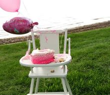 updated vintage high chair