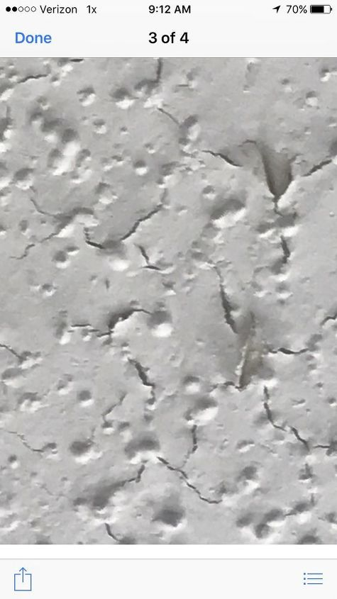q what causes paint to peel or crack after being painted on a ceiling