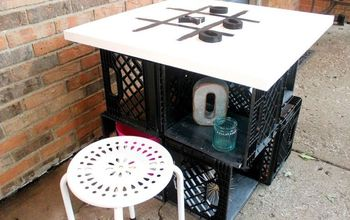 DIY OUTDOOR TABLE WITH STORAGE / TABLETOP TIC TAC TOE