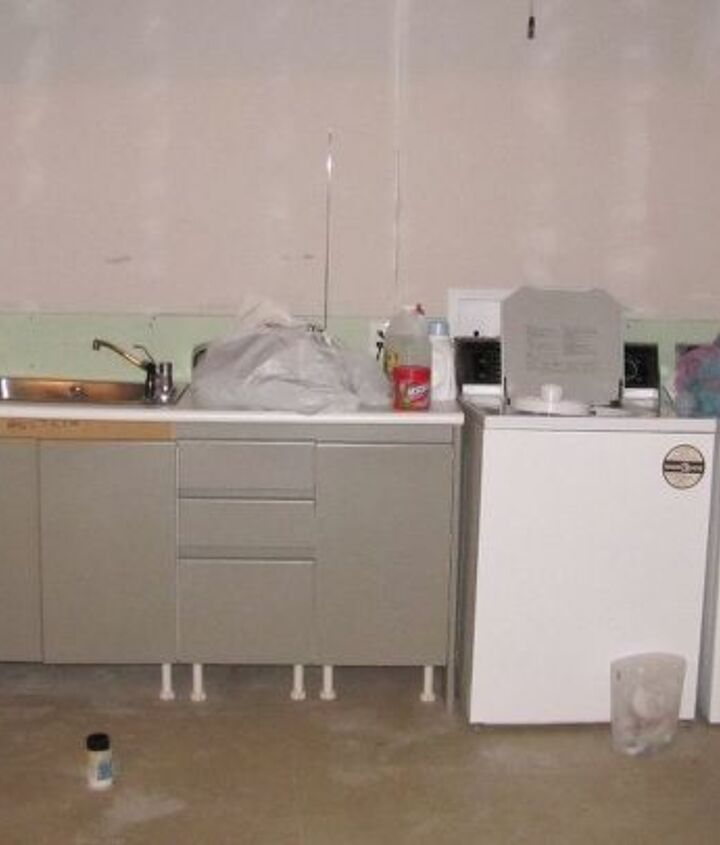 remodel a laundry room by adding a new countertop