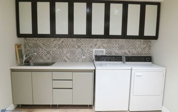 Remodel a Laundry Room by Adding a New Countertop!