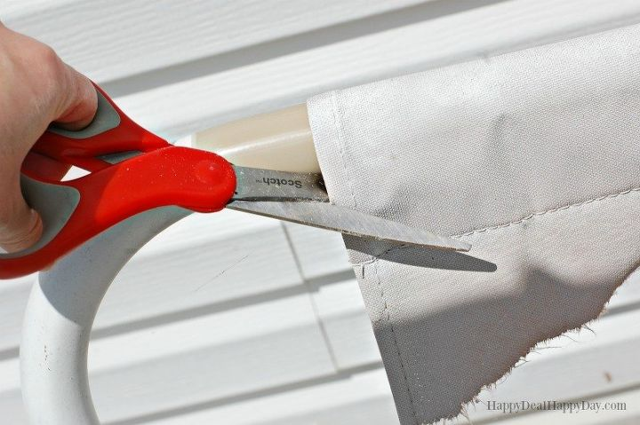 how to fix broken canvas on a porch swing