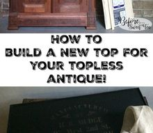 create a new removable tray top for your topless dresser