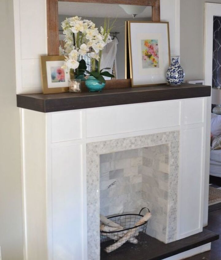 s 11 awesome projects to fake your way to the perfect home, Construct A Fireplace Out Of 2X4 s