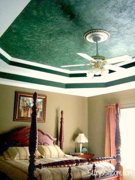 s 11 awesome projects to fake your way to the perfect home, Dab Paint For A Faux Marble Ceiling