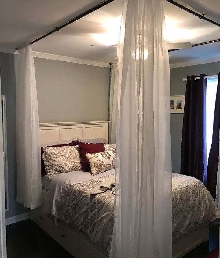 s 11 awesome projects to fake your way to the perfect home, Recreate A Dreamy Four Post Bed