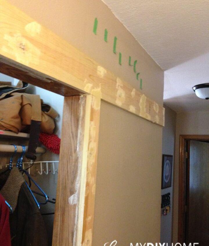 barn door hardware transforms ugly hallway