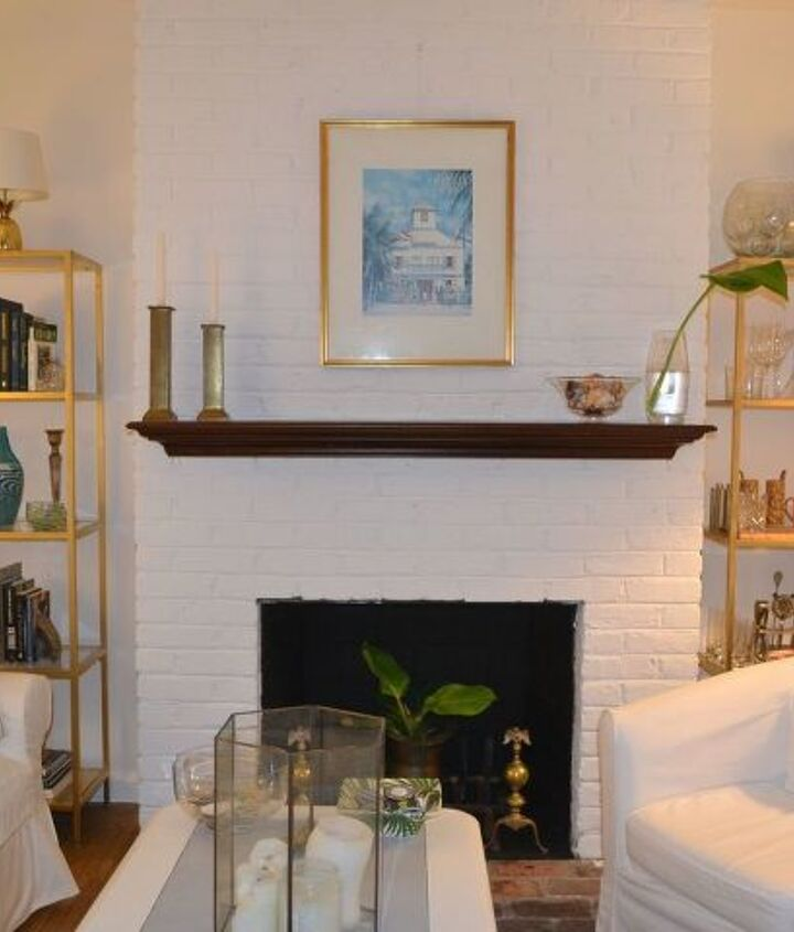 s 12 cozy fireplaces to build for your love minus the expense, Paint Over Bricks With Several Coats