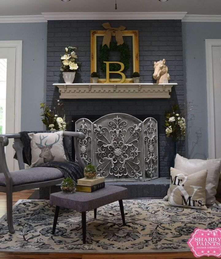 s 12 cozy fireplaces to build for your love minus the expense, Add Farmhouse Inspiration To Your Fireplace