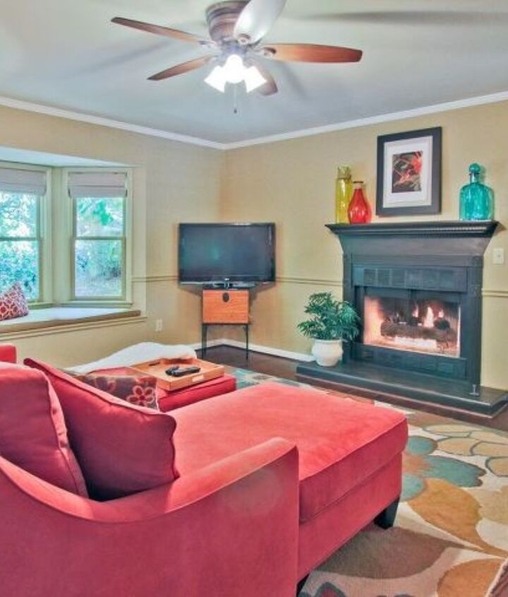 s 12 cozy fireplaces to build for your love minus the expense, Place Tape To Tie The Fireplace