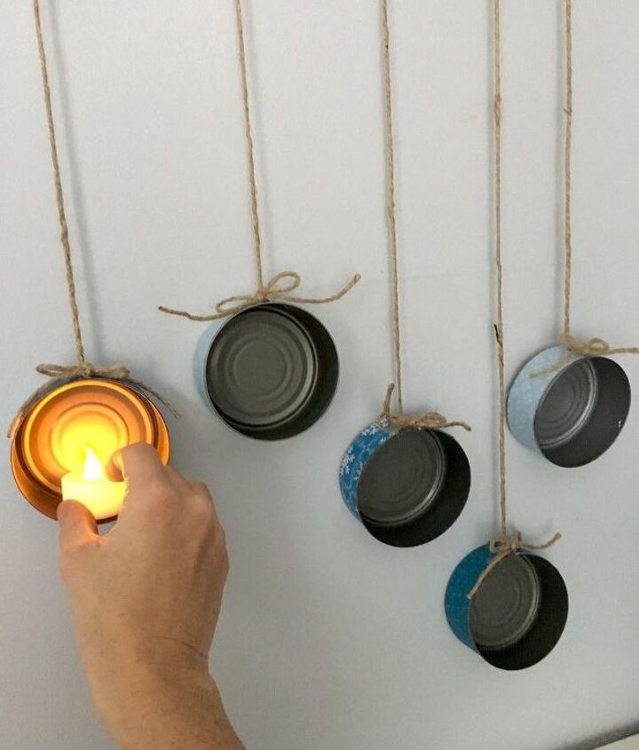 rinse out tuna cans for this gorgeous lighting idea