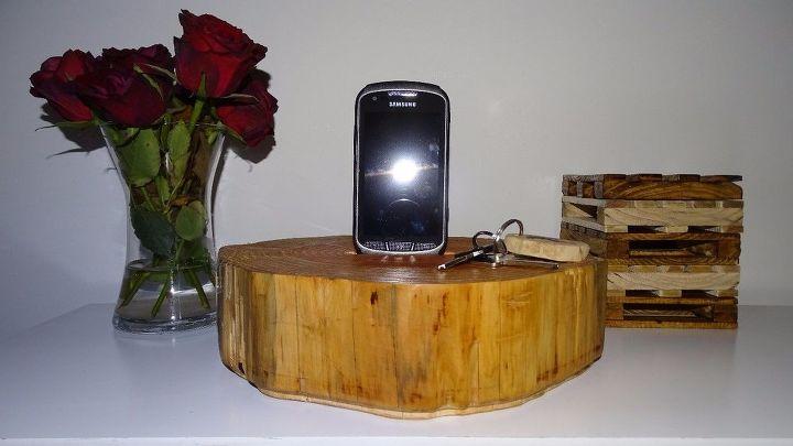 a wooden phone d