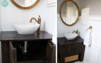 diy rustic bathroom vanity
