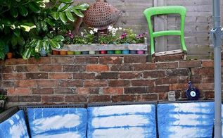 stunning outdoor sofa refresh with shibori