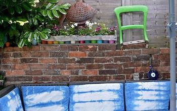 Stunning Outdoor Sofa Refresh With Shibori (Indigo) Dyeing.