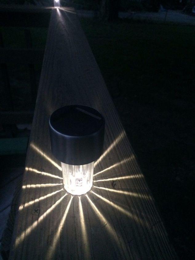 Diy solar deck lighting hometalk diy solar deck lighting aloadofball Images