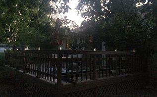 diy solar deck lighting