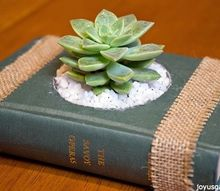 how to create succulent planters from vintage books