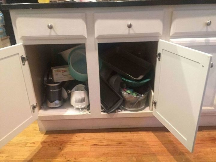 Convert messy kitchen cabinets into useful drawers a how for Can you replace kitchen cabinets without replacing countertop