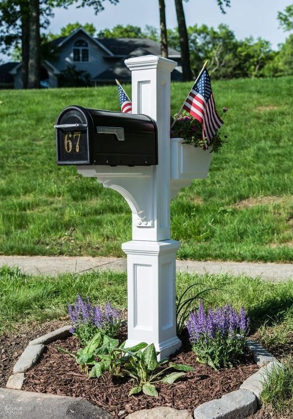 s 15 ways pretty places to put your mail organized, Mix Up Concrete To Hold A New Mailbox