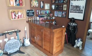 old desk home bar