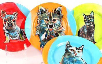 pet portrait dishes