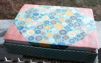 DIY Upcycled Storage Box Organizer