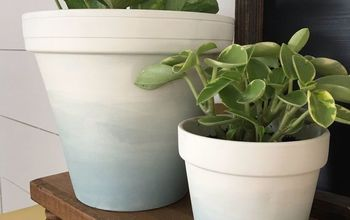 DIY Watercolor Plant Pots