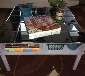 Diy Rustic Industrial Mirrored Coffe Table